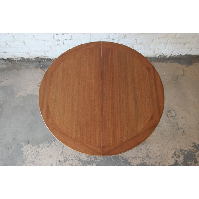 Harvey Probber Mid-Century Modern Mahogany Saber Leg Extension Dining Table For Sale - Image 9 of 13