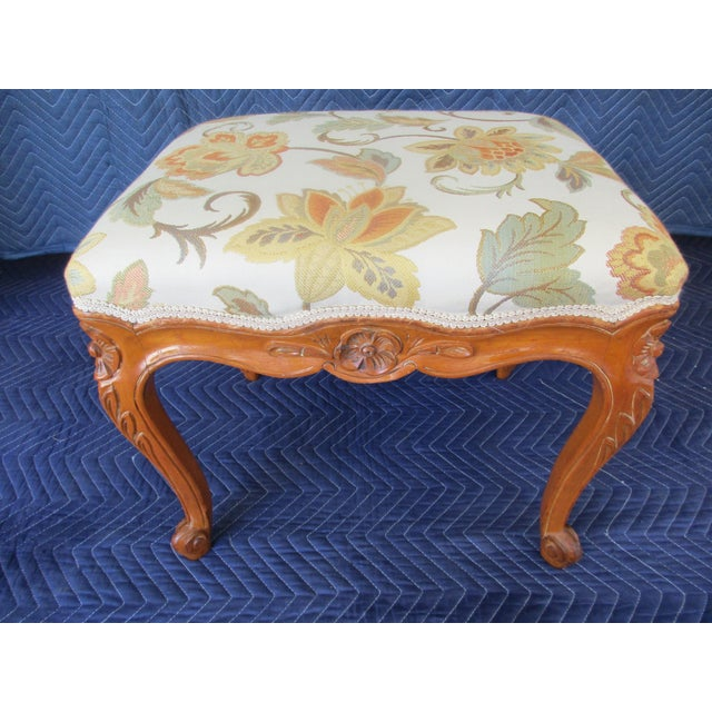 French Provincial Footstool For Sale - Image 12 of 12