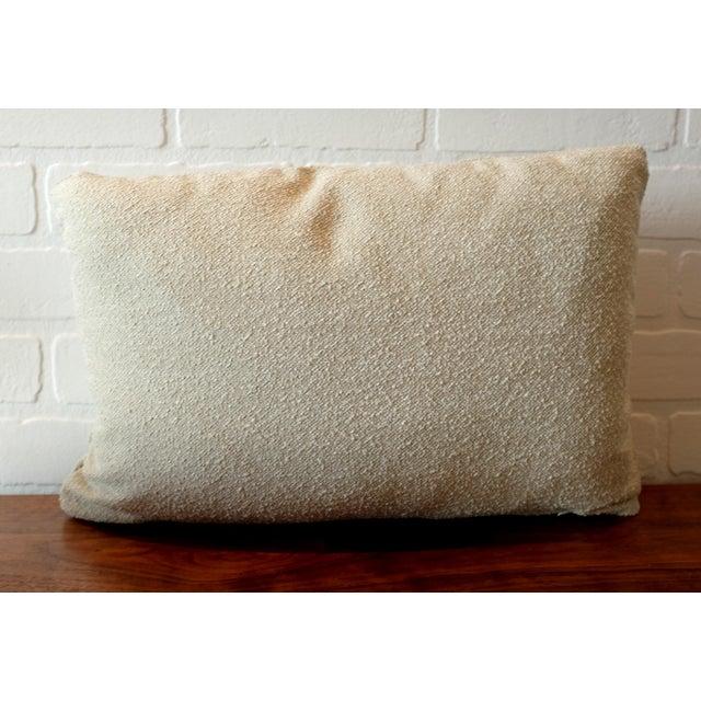Boho Chic Italian Linen Bouclé Lumbar Pillow Covers - A Pair For Sale - Image 3 of 5