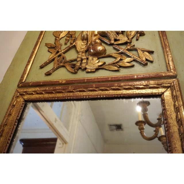 Glass 18th Century Louis XVI Trumeau Mirror For Sale - Image 7 of 11