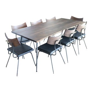 Modern Square Roots Soli Chairs & Table - Set of 9