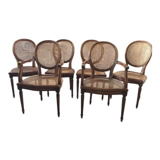 Carved French Dining Chairs Set of 6