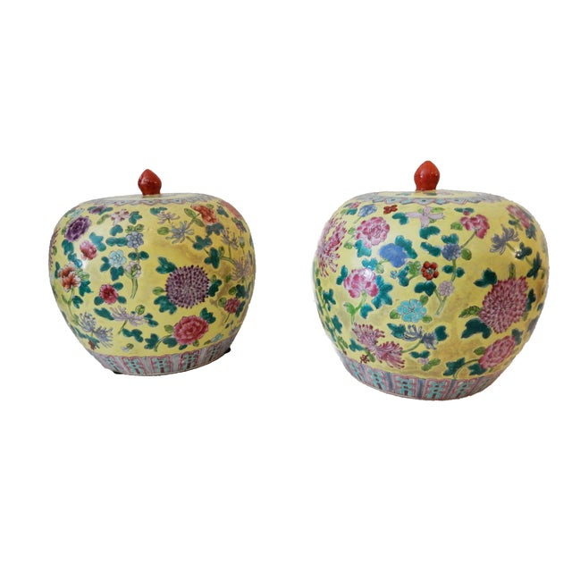Famille Jaune Ginger Jars - A Pair - Image 8 of 8