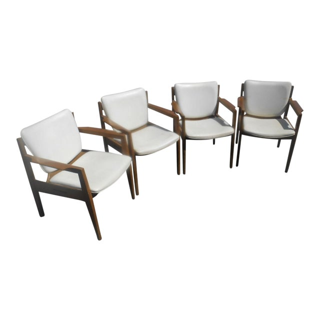 Vintage 1960's Thonet Mid-Century Modern Maple Dining / Side Chairs-Set of 4 For Sale