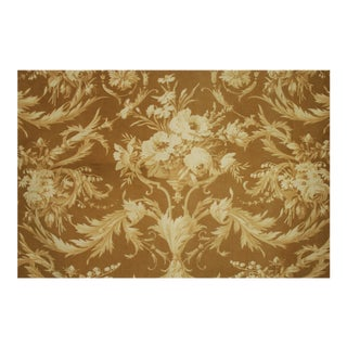 French Rococo Fabric Floral Printed Cotton For Sale