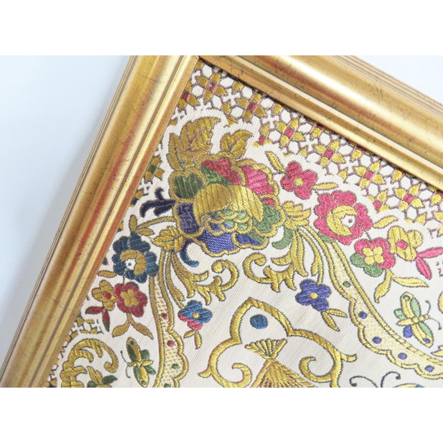 Large Chinese Framed Tapestry For Sale - Image 4 of 7