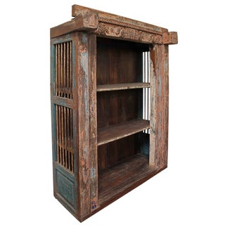 Vintage Indian Architectural Salvage Bookcase Preview
