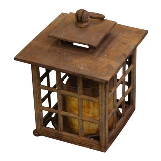 Early 20th Century Arts & Crafts Hanging Candle Holder For Sale