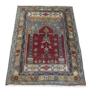 Turkish Vintage Anatolian Small Rug For Sale