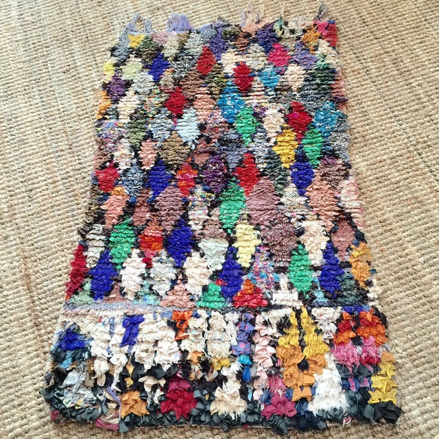 "Moroccan Diamond Boucharouite Rug - 3' x 4'8"" - Image 2 of 3"