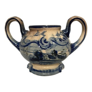 Blue & White Delft Cachepot For Sale