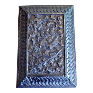 Late 19th Century Vintage Anglo Indian Ebony Calling Card Case For Sale