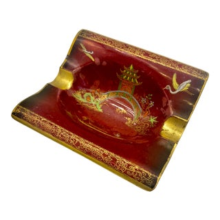 1920s Carlton Ware Rouge Royale Mikado Ashtray For Sale