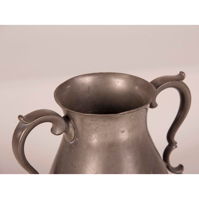 Large Pewter Urn with Two Shaped Handles from England c.1850 For Sale - Image 4 of 6
