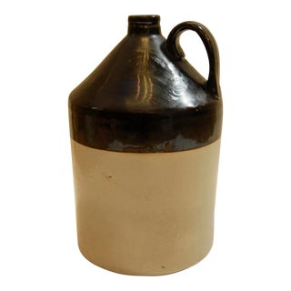 Antique Late 19th Century Stoneware Crock Jug For Sale