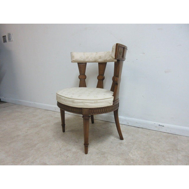 Vintage Italian Regency Cherrywood Fireside Side Lounge Chair For Sale - Image 11 of 11