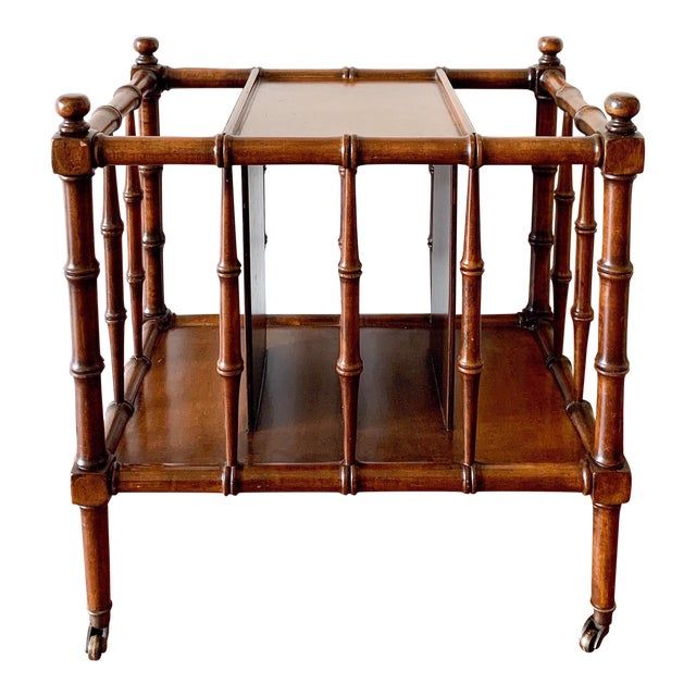 Hollywood Regency Faux Bamboo Magazine Racks For Sale