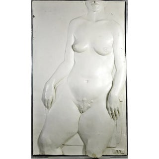 Nude Sculpture in Fiberglass Relief For Sale
