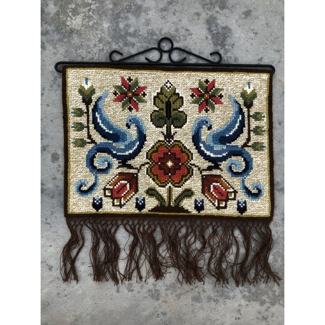 Vintage Swedish/Scandinavian Wall Hanging/Tapestry For Sale - Image 6 of 6