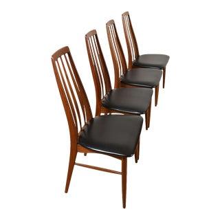 Set of 4 Koefoed Hornslet Danish Modern Walnut Dining Chairs For Sale