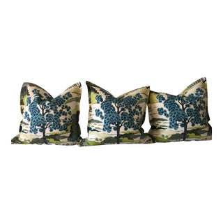 "Thibault ""Daintree"" Pillow Covers - Set of 3 For Sale"