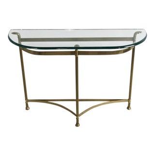 2000s Maison Jansen Style Demilune Console Table