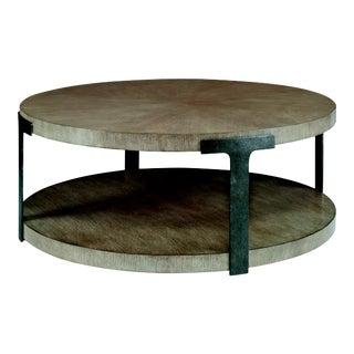 Casa Bella Sunburst Cocktail Table - Timber Gray Finish For Sale