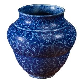 Velten Vordamm Art Deco Crackle Glaze Ceramic Vase, Germany, 1920s For Sale