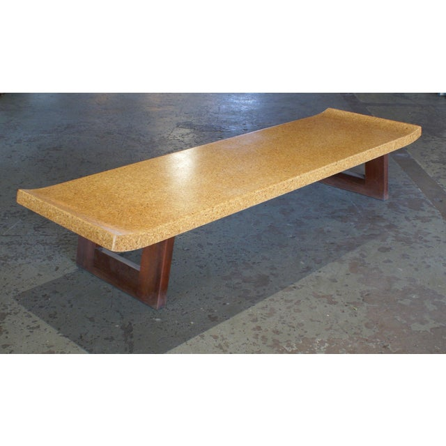 Refinished Cork Top Coffee Table by Paul Frankl For Sale - Image 5 of 5