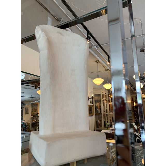 Contemporary 1980s Post Modern Plaster Male Bust Sculpture For Sale - Image 3 of 7