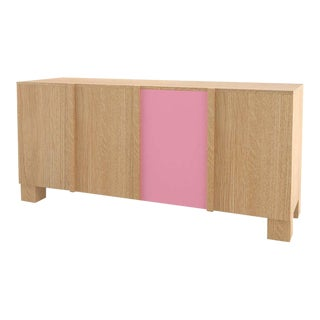 Contemporary 100C Storage in Oak and Pink by Orphan Work, 2020 For Sale