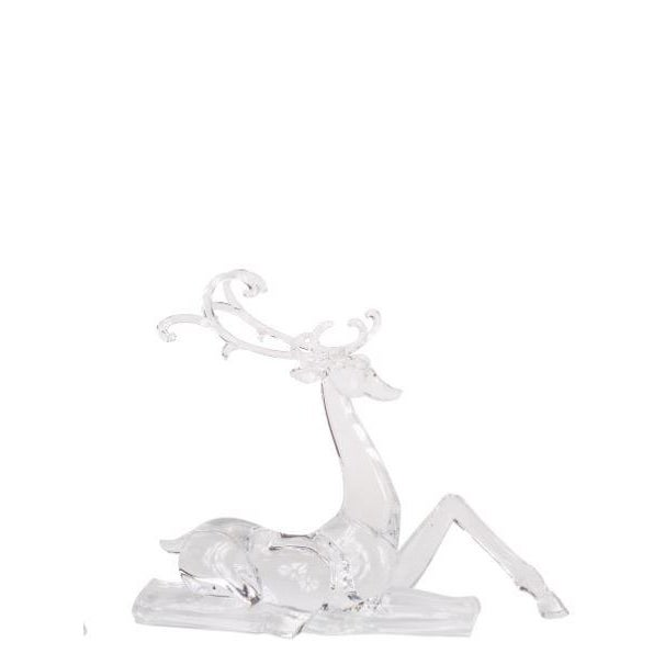 Modern Kenneth Ludwig Acrylic Deer Figurines - Set of 2 For Sale - Image 3 of 4
