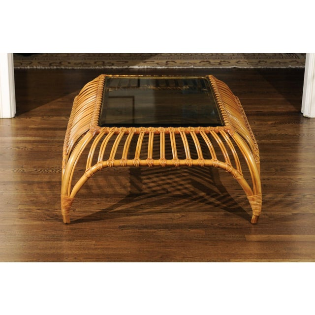 An exquisite and unique coffee table by the esteemed Henry Olko for his Willow and Reed firm, circa 1979. Mr. Olko,...