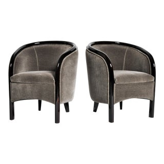 Small Hungarian Club Chairs- A Pair For Sale