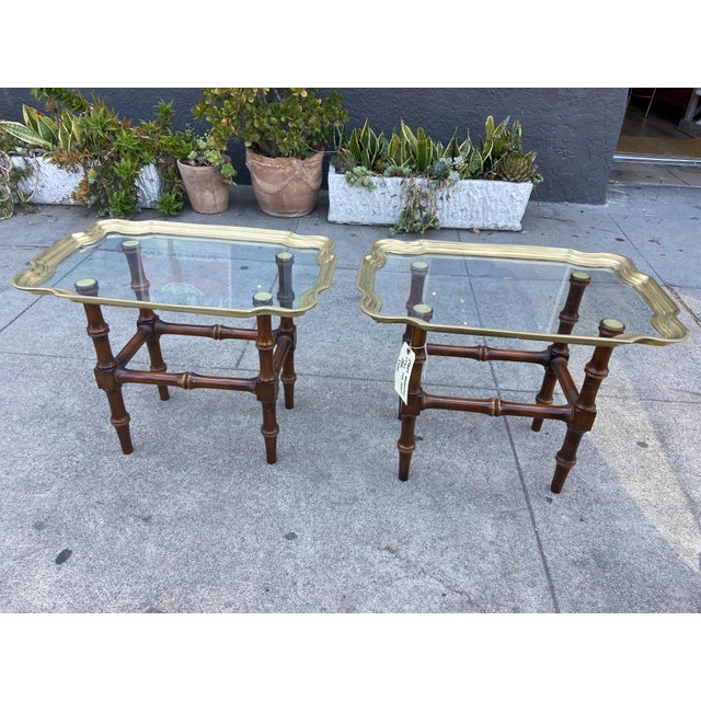 Vintage Gilded Moroccan End Table Pair For Sale - Image 10 of 10