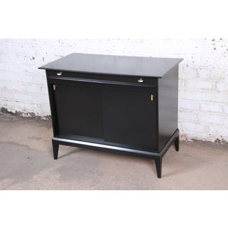 Paul McCobb Style Ebonized Mid-Century Modern Compact Credenza by Heywood Wakefield Preview