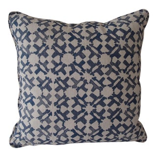 Peter Dunham Indigo Blue Linen Pillow