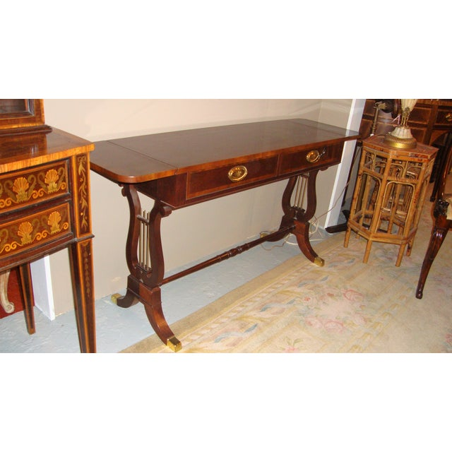 Baker Furniture Company Mahogany Sofa Table - Image 4 of 10