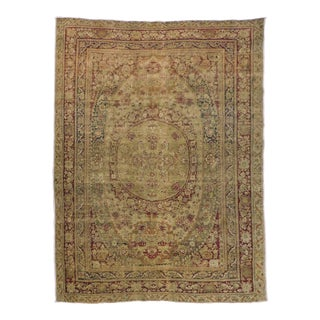1900 Antique Persian Kerman Lavar Rug For Sale