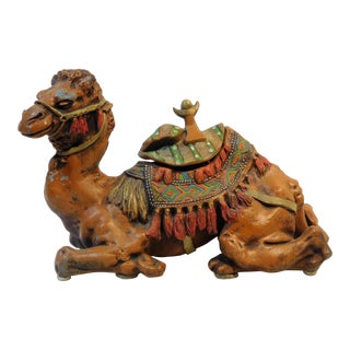 Early 20th Century Antique Camel Inkwell For Sale