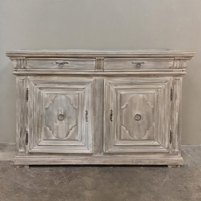 Early 18th Century Country French Whitewashed Buffet For Sale - Image 13 of 13
