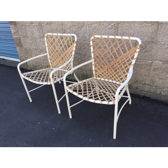Metal Vintage Brown Jordan Sculptural Tamiami Patio Chairs - a Pair For Sale - Image 7 of 8