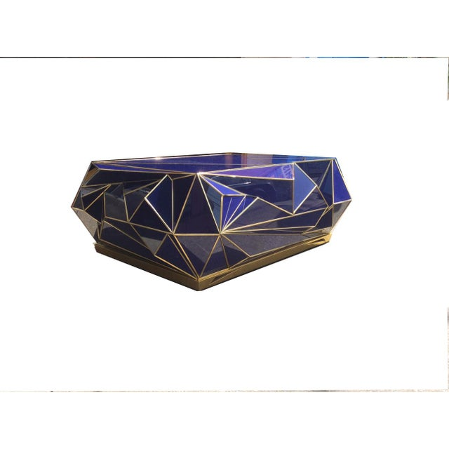 Ploytope Coffee Table in Cobalt by MarGian Studio For Sale - Image 9 of 10