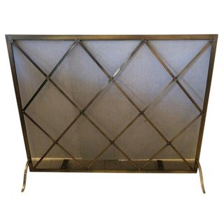 Handsome Large Fireplace Screen For Sale