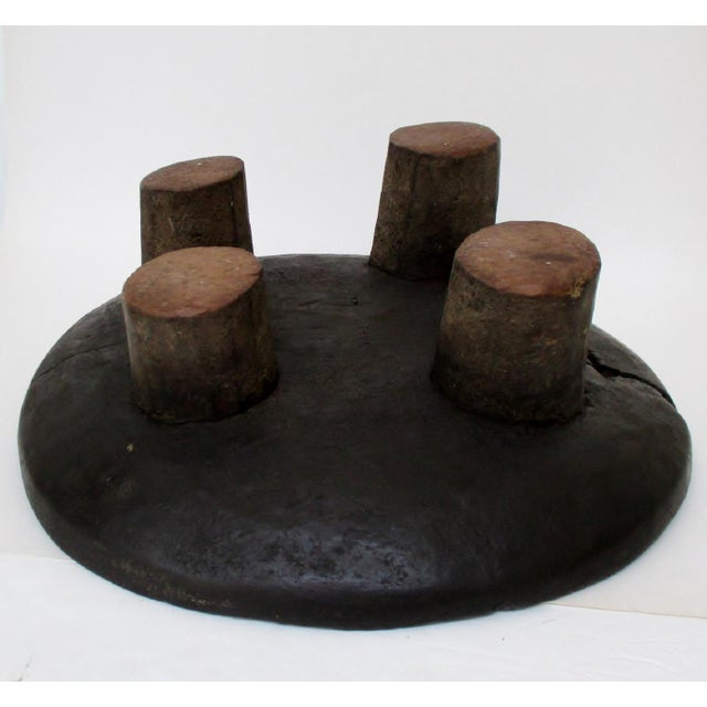 West African Footed Wood Bowl - Image 8 of 8