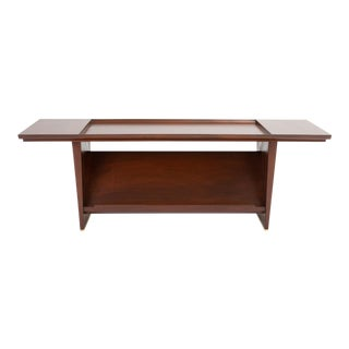 1950's Vintage Edward Wormley for Dunbar Coffee Table With Display Shelf For Sale