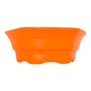 Orange Ceramic Candy Dish
