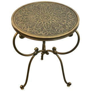 Napoleon III Style Brass Inlaid Side Table For Sale