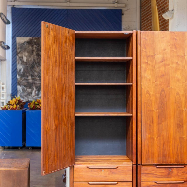 Barzilay 1960's Barzilay Tall Wardrobe-a Pair For Sale - Image 4 of 6