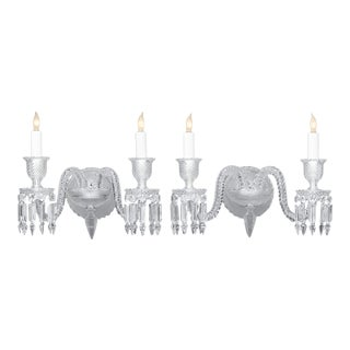 Exceptional Baccarat Crystal Sconces For Sale